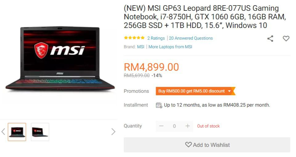 Best Gaming Laptop for Every Budget in Malaysia 2019 2