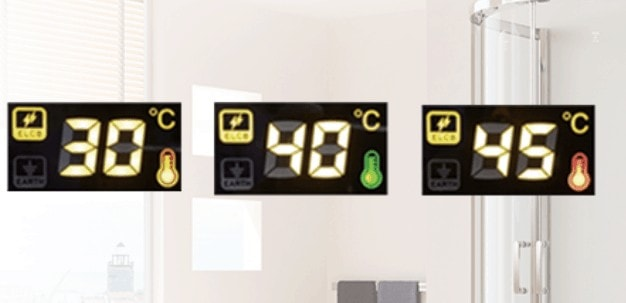 Toshiba water heater LED display