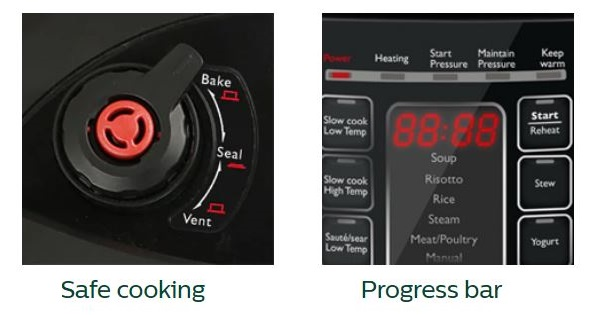 Philips HD2137 safe cooking feature